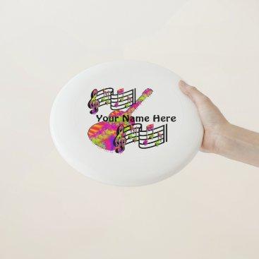 Beach Themed Weeping Guitar Wham-O Frisbee
