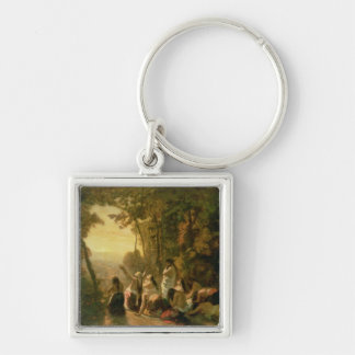 Weeping of the Daughter of Jephthah, 1846 Keychain