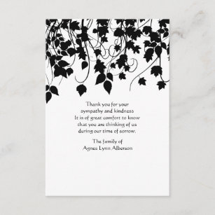 Bereavement Thank You Cards Zazzle