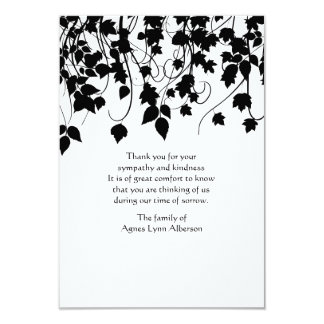 Weeping Vines Bereavement Thank You Card