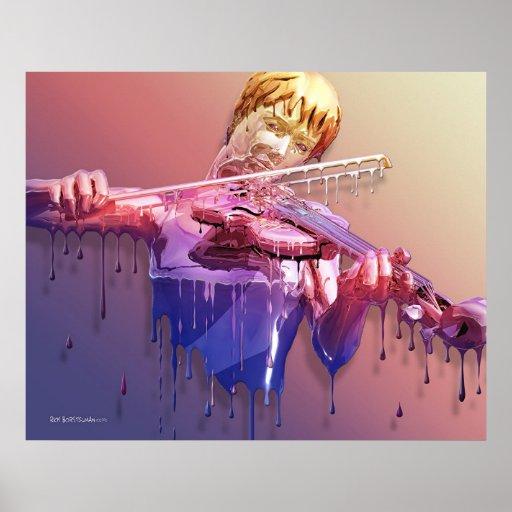 Weeping Violin Poster
