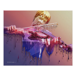 Weeping Violin Print