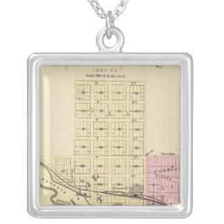 Weeping Water, Nebraska Square Pendant Necklace