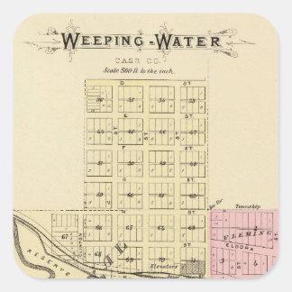 Weeping Water, Nebraska Square Stickers