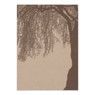 Weeping Willow 5x7 Paper Invitation Card