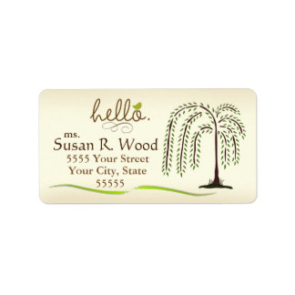 Weeping Willow Address Labels