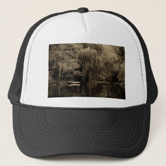 Weeping willow and boat trucker hat