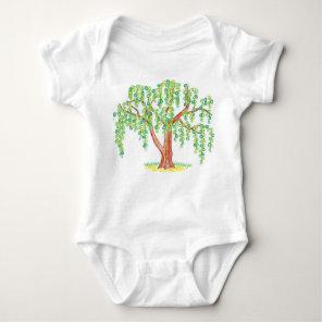 Weeping Willow Art Baby Bodysuit