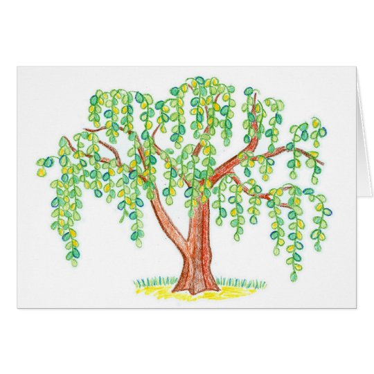 Weeping Willow Art Card