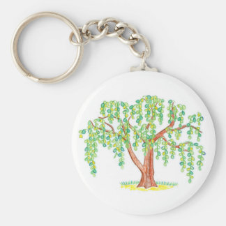 Weeping Willow Art Key Chain