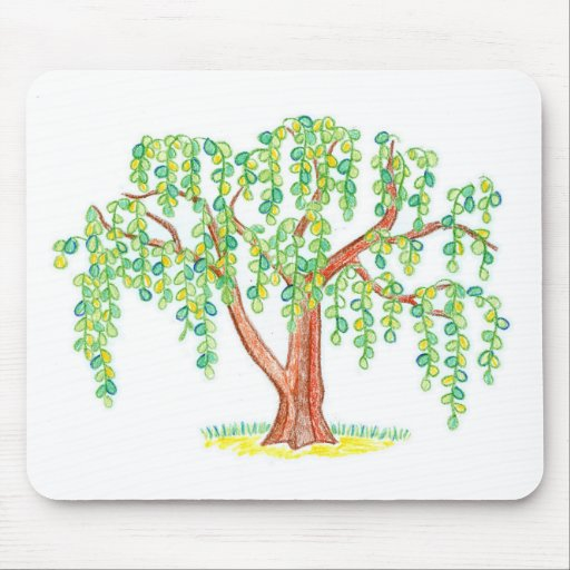 Weeping Willow Art Mouse Pad