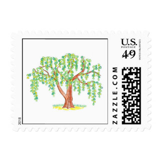 Weeping Willow Art Postage