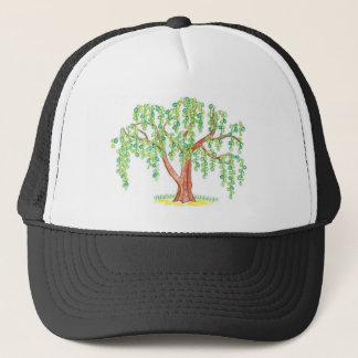 Weeping Willow Art Trucker Hat