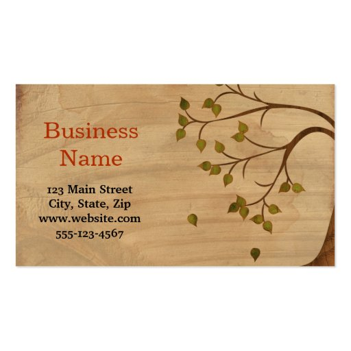 Weeping Willow Business Card Template