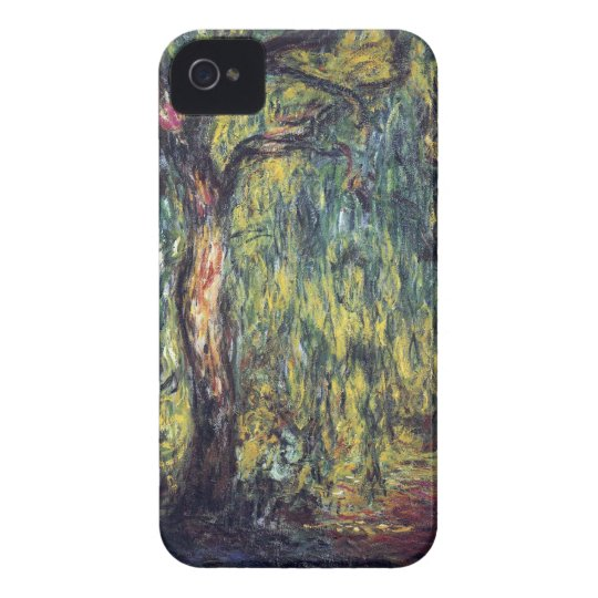 Weeping Willow by Claude Monet, Vintage Fine Art Case-Mate iPhone 4 Case