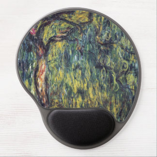 Weeping Willow by Claude Monet, Vintage Fine Art Gel Mouse Pad