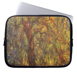 Weeping Willow by Claude Monet, Vintage Fine Art Laptop Sleeve