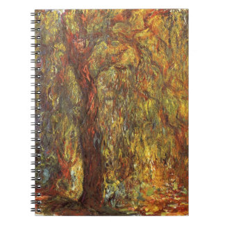 Weeping Willow by Claude Monet, Vintage Fine Art Notebook
