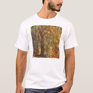 Weeping Willow by Claude Monet, Vintage Fine Art T-Shirt