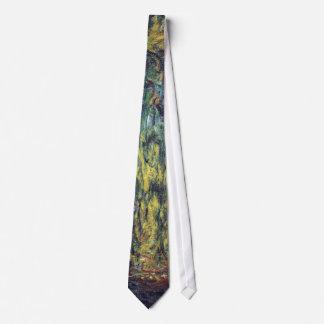Weeping Willow by Claude Monet, Vintage Fine Art Tie