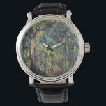 """Weeping Willow by Claude Monet, Vintage Fine Art Watch<br><div class=""""desc"""">Weeping Willow II (1918) by Claude Monet is a vintage impressionist fine art nature painting. It is part of a series of willow tree paintings that Monet painted in his gardens in Giverny, France. A grove of trees in a forest during the autumn season. About the artist: Claude Monet (1840-1926)...</div>"""