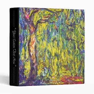 Weeping Willow Claude Monet Binder