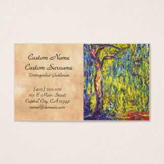 Weeping Willow Claude Monet Business Card