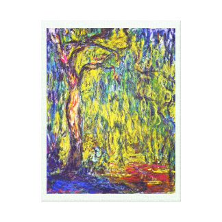 Weeping Willow Claude Monet Gallery Wrap Canvas