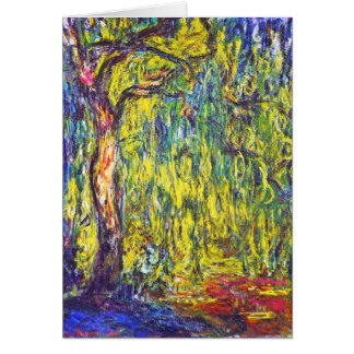 Weeping Willow Claude Monet Card
