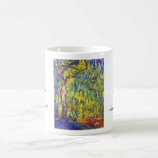 Weeping Willow Claude Monet Classic White Coffee Mug