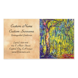 Weeping Willow Claude Monet Double-Sided Standard Business Cards (Pack Of 100)