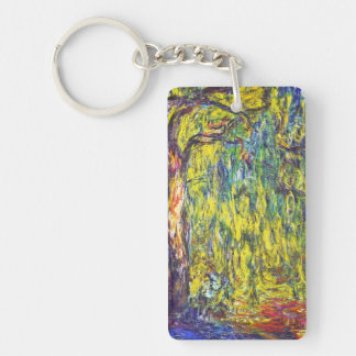 Weeping Willow Claude Monet Keychain