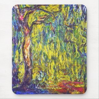 Weeping Willow Claude Monet Mouse Pad