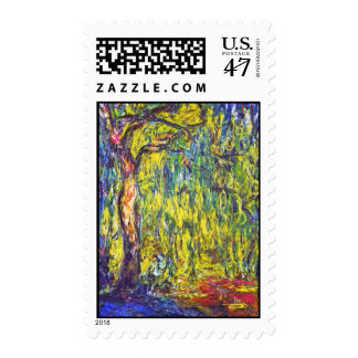 Weeping Willow Claude Monet Postage