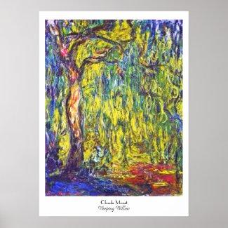 Weeping Willow Claude Monet Print
