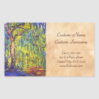 Weeping Willow Claude Monet Sticker