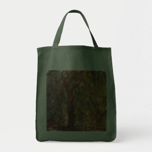 Weeping Willow, Claude Monet Vintage Impressionism Bag
