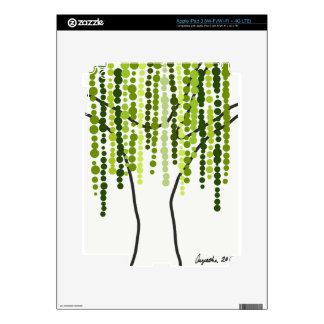 weeping willow decal for iPad 3