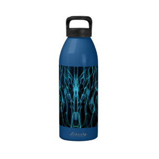 WEEPING WILLOW DIGITAL ART BACKGROUNDS ABSTRACT RA WATER BOTTLE