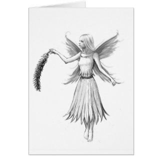 Weeping Willow Fairy with Catkin Card