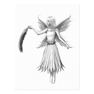 Weeping Willow Fairy with Catkin Postcard