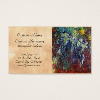 Weeping Willow, Giverny Claude Monet  painting Business Card