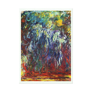 Weeping Willow, Giverny Claude Monet  painting Stretched Canvas Prints