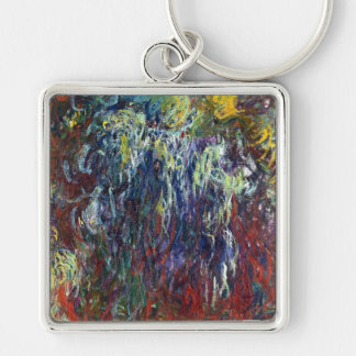 Weeping Willow, Giverny Claude Monet  painting Key Chain