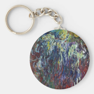 Weeping Willow, Giverny Claude Monet  painting Keychain