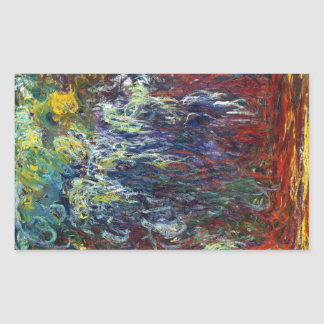 Weeping Willow, Giverny Claude Monet  painting Rectangular Sticker