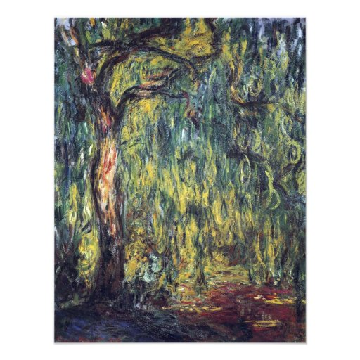 Weeping Willow II by Monet, Vintage Impressionism Announcements