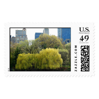 Weeping Willow in Central Park Postage