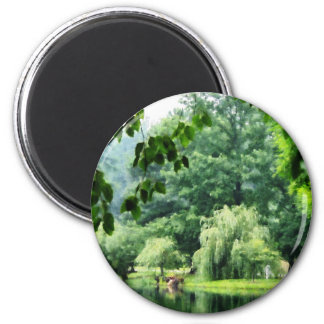 Weeping Willow in the Mist Magnet