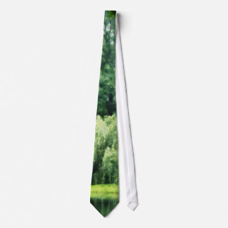 Weeping Willow in the Mist Tie